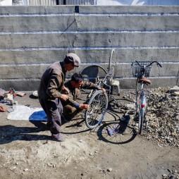 Mobile Fahrradreparatur, erste privatwirtschaftliche Pflänzchen.