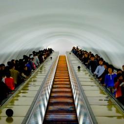 Die Pjöngjanger Ubahn ist angebllich die tiefste der Welt.