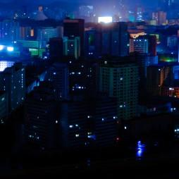 Pjöngjang bei Nacht